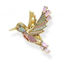 Thomas Sabo PE905-488-7 Pendant Colourful Hummingbird Gold Plated Silver