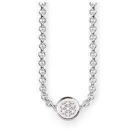 Thomas Sabo D_KE0003-725-14 Diamant-Halskette Sparkling Circles