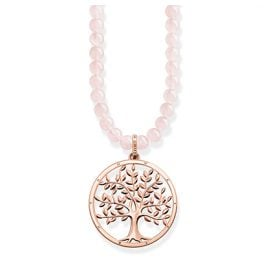 Thomas Sabo KE1662-536-9 Power Halskette Tree of Love Rosa
