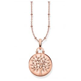 Thomas Sabo KE1831-415-40-L45v Damencollier Medaillon Tree of Love rosé