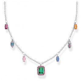 Thomas Sabo KE1893-342-7-L45v Ladies´ Necklace Colourful Lucky Symbols Silver