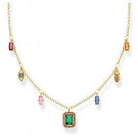 Thomas Sabo KE1893-488-7-L45v Ladies´ Necklace Colourful Lucky Symbols Gold-Tone