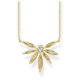 Thomas Sabo KE1949-414-14-L45v Ladies' Necklace Leaves Gold Plated Silver