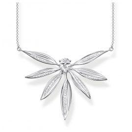 Thomas Sabo KE1950-051-14-L45v Damen-Halskette Blätter Silber groß