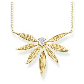 Thomas Sabo KE1950-414-14-L45v Halskette Blätter groß Silber vergoldet