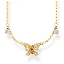 Thomas Sabo KE1951-488-7-L40v Ladies' Necklace Butterfly Gold-Plated Silver