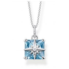 Thomas Sabo KE1953-644-31-L45v Ladies' Necklace Blue Stone with Star Silver