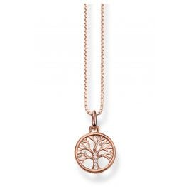 Thomas Sabo KE2092-416-14-L42v Ladies' Necklace Tree of Love rose gold tone