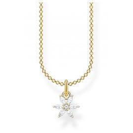 Thomas Sabo KE2103-414-14-L45v Damen-Halskette Blume Goldfarben
