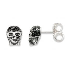 Thomas Sabo H1772-051-11 Earrings Death´s Head with Black Zirconias
