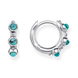 Thomas Sabo CR614-878-17 Hinged Hoops Turquoise