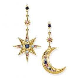 Thomas Sabo H2025-959-7 Ladies' Earrings Royalty Star & Moon