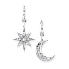 Thomas Sabo H2026-643-14 Ladies´ Earrings Royalty Star & Moon
