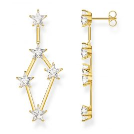 Thomas Sabo H2083-414-14 Drop Earrings Stars Gold Plated Silver