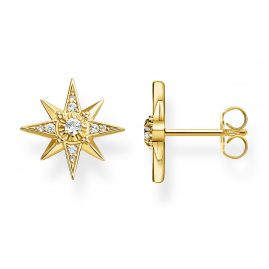 Thomas Sabo H2081-414-14 Stud Earrings Star Gold Plated Silver