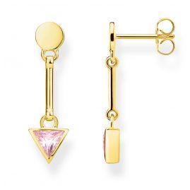 Thomas Sabo H2038-414-9 Women's Earrings Triangle Pink