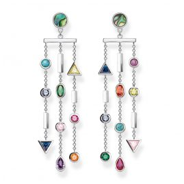 Thomas Sabo H2041-983-7 Drop Earrings Colourful Stones