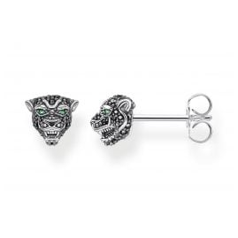 Thomas Sabo H2110-845-11 Women's Stud Earrings Black Cat