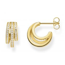Thomas Sabo CR652-414-14 Hoop Earrings Gold-Plated Silver