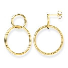 Thomas Sabo H2097-413-39 Women's Earrings Circles Gold Plated Silver
