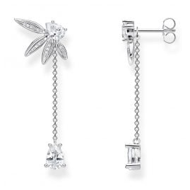 Thomas Sabo H2105-051-14 Earrings Leaves with Chain Silver