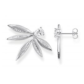 Thomas Sabo H2106-051-14 Ear Studs for Ladies Leaves Silver