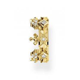 Thomas Sabo EC0016-414-14 Einzel Ohrklemme Krone Silber vergoldet