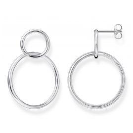 Thomas Sabo H2097-001-21 Damen-Ohrringe Ohrhänger Silber Kreis