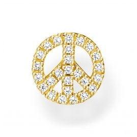 Thomas Sabo H2218-414-14 Single Ohrstecker Peace Goldfarben
