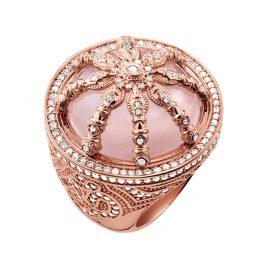 Thomas Sabo TR2025-537-9 Cocktail Ring Pink Karma Wheel