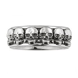 Thomas Sabo TR1878-001-12 Silver Ring Death's Heads