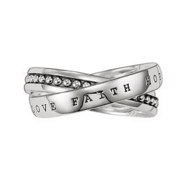 Thomas Sabo TR1930-001-12 Silber Ring Glaube, Liebe, Hoffnung