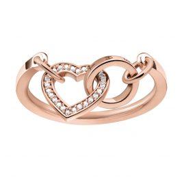 Thomas Sabo TR2142-416-14 Ladies Ring Together Heart Rose