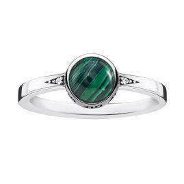 Thomas Sabo TR2177-880-6 Ladies Ring Green Stone