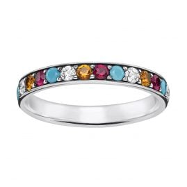 Thomas Sabo TR2178-342-7 Ladies Ring Colourful Stones