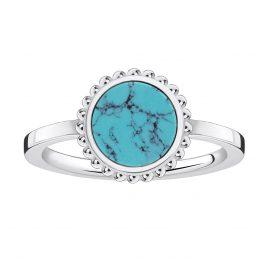 Thomas Sabo TR2186-404-17 Ladies Ring Turquoise Stone