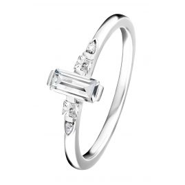 Thomas Sabo TR2266-051-14 Ladies Silver Ring Stone Baguette Cut White