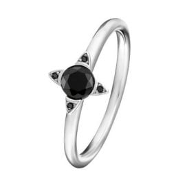 Thomas Sabo TR2268-643-11 Silver Ladies' Ring Black Stones