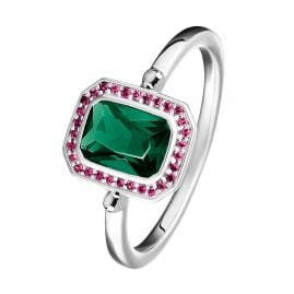 Thomas Sabo TR2264-348-7 Ladies' Silver Ring Red & Green Stones
