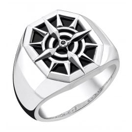 Thomas Sabo TR2274-641-11 Men's Ring Compass Black