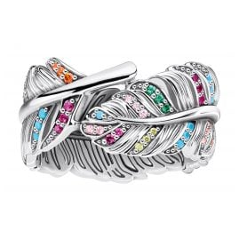 Thomas Sabo TR2284-342-7 Ladies' Ring Feather Silver