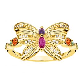 Thomas Sabo TR2285-488-7 Women's Ring Butterfly gold tone