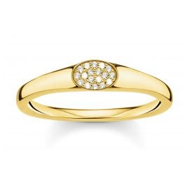 Thomas Sabo TR2315-414-14 Signet Ring for Ladies gold-coloured