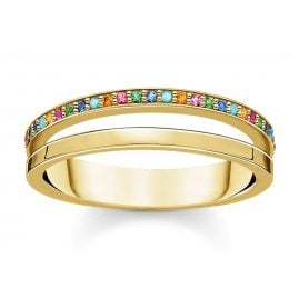 Thomas Sabo TR2316-488-7 Ladies´ Ring gold-coloured with colourful Stones