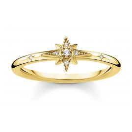 Thomas Sabo TR2317-414-14 Ring for Ladies Star gold tone