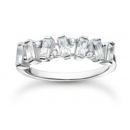 Thomas Sabo TR2346-051-14 Silberring für Damen Weiße Steine