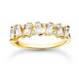 Thomas Sabo TR2346-414-14 Gold Tone Ladies' Ring White Stones