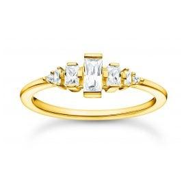 Thomas Sabo TR2347-414-14 Damen-Ring Vintage Goldfarben Weiße Steine