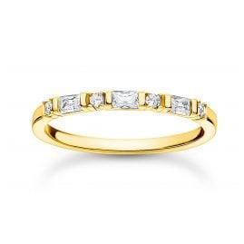 Thomas Sabo TR2348-414-14 Damenring Goldfarben Weiße Steine