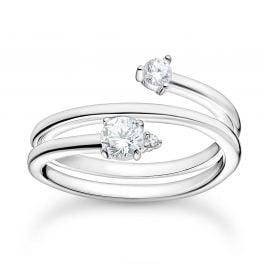 Thomas Sabo TR2357-051-14 Damen-Ring Pfeil mit Weißen Steinen